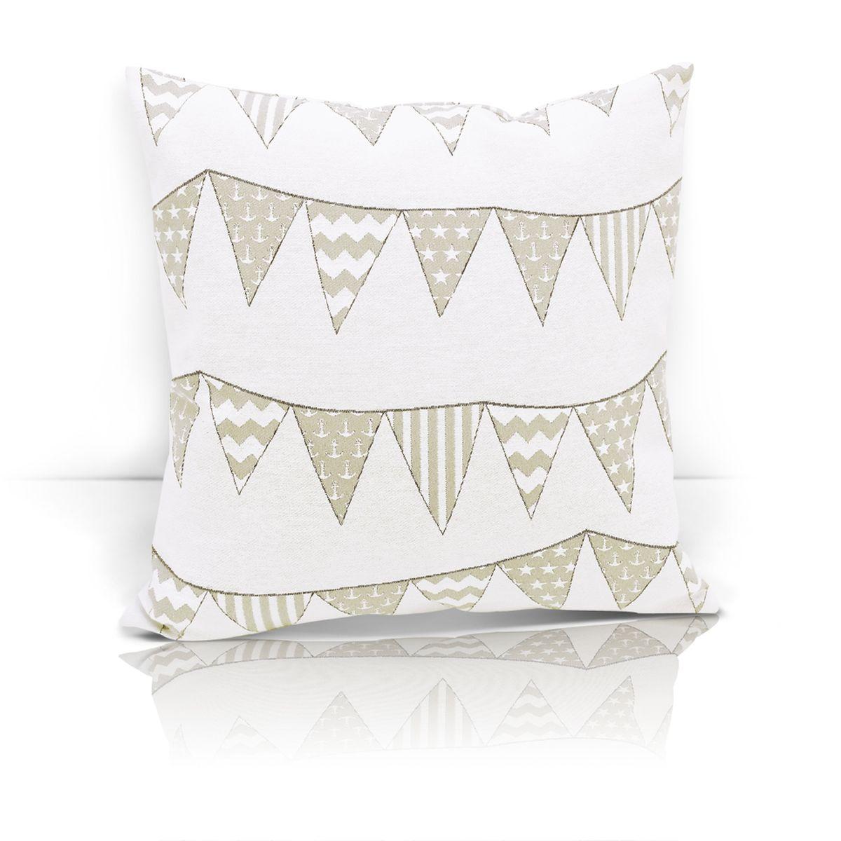 Подушка декоративная KauffOrt Холидэй, 40 x 40 смBW-4770Декоративная подушка Холидэй прекрасно дополнит интерьер спальни или гостиной. Чехол подушки выполнен из жаккардовой ткани. Внутри находится мягкий наполнитель. Чехол легко снимается благодаря потайной молнии.