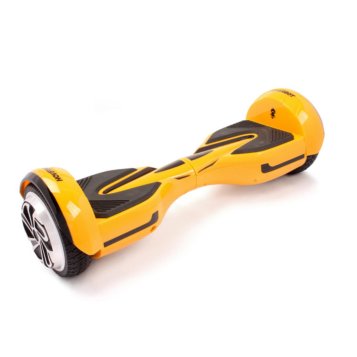 """Гироскутер Hoverbot A-12 (H-2), цвет: желтыйMHDR2G/AГироскутер Hoverbot A12 имеет современный спортивный дизайн, который располагаетк быстрой езде. Данная модель отлично подойдёт для опытных пользователей.Устройство по праву занимает одно из достойных мест в классе 6,5 колёс. Имея большойзапас хода и мощный мотор (2х400W) Hoverbot A12, бесшумно преодолевает расстояниев 15 км на одном заряде батареи. Хорошее сцепление с дорогой и устойчивый ход бордаA12 позволяет опытным райдерам быстро набирать скорость и успешно маневрироватьдаже в самых экстремальных ситуациях. Покупая Hoverbot A12 вы покупаете не толькосредство для развлечения, но и универсальное средство передвижения, которое можнолегко брать с собой в дорогу, поскольку он компактен и помещается в любую машину.Благодаря своему небольшому весу (10 кг) вы легко можете взять его в руки зацентральную часть борда и перенести через препятствие, продолжить свой путь вавтобусе, либо в метро. Hoverbot А12 оснащён передними ходовыми огнями игабаритами сзади. Вся подсветка выполнена из светодиодных лампочек и имеет долгийсрок службы.Характеристики:1. Цвета: black, yellow, red2. Возможная дистанция: 15 км3. Максимальная скорость: 15 км/ч4. Аккумулятор: Lithium 4.4 Ah5. Размер колеса: 6,5"""" (165 мм)6. Мощность мотора: 2х400 W7. Максимальная нагрузка: 120 кг8. Время заряда/сеть: 120 мин/220В9. Вес нетто: 10 кг10. Вес брутто: 11,5 кг11. Влагозащита: IP5412. Условия эксплуатации: 10°C до +50°C13. Размер коробки: 675х260х26514. Комплектация/особенности: Зарядное устройство."""