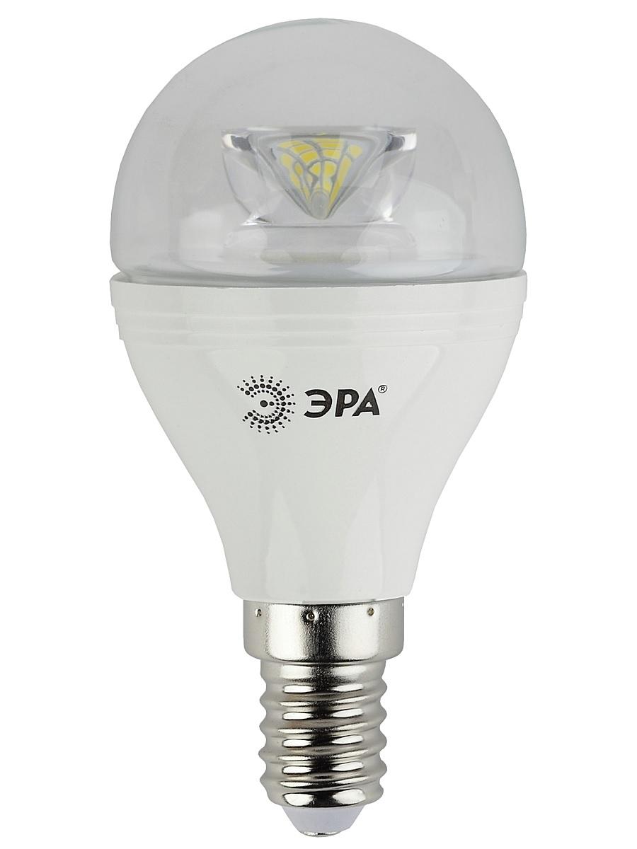 Лампа светодиодная ЭРА, цоколь E14, 170-265V, 7W, 2700КC0038548Светодиодная лампа ЭРА является самым перспективным источником света. Основным преимуществом данного источника света является длительный срок службы и очень низкое энергопотребление, так, например, по сравнению с обычной лампой накаливания светодиодная лампа служит в среднем в 50 раз дольше и потребляет в 10-15 раз меньше электроэнергии. При этом светодиодная лампа практически не подвержена механическому воздействию из-за прочной конструкции и позволяет получить любой цвет светового потока, что, несомненно, расширяет возможности применения и позволяет создавать новые решения в области освещения.Особенности серии Clear:Лампы предназначены для хрустальных люстр.Угол рассеивания светового потока 270 градусовСветовая отдача - 90-100 лм/ВтСрок службы - 30000 часовГарантия - 2 годаСовместимы с выключателями с подсветкой.
