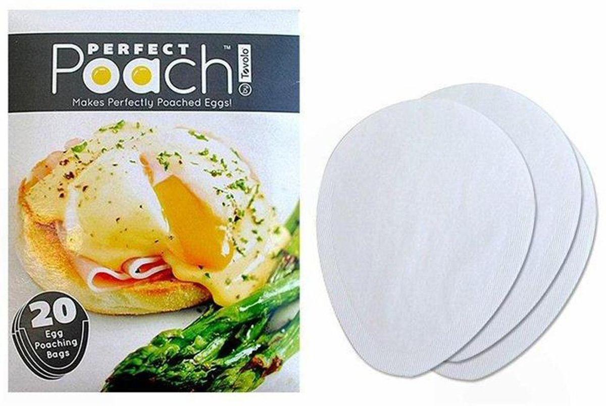Набор мешочков для приготовления яйца пашот Tovolo, одноразовые, 20 шт115510Отличная идея, облегчающая приготовление идеального яйца пашот. Одноразовый мешочек из биоразлагаемого экологичного материала прост в использовании, и не требует ни масла, ни уксуса. Одна упаковка содержит 20 мешочков.