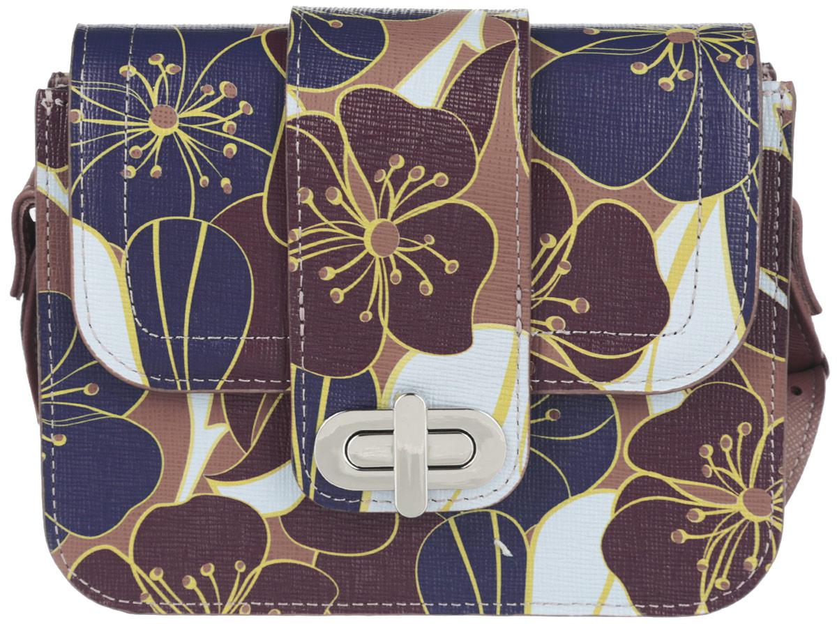 Сумка женская Esse Селеста, цвет: коричневый. GSLS2U-00MG09-FH013O-K100A-B86-05-CСтильная компактная сумочка через плечо Esse Селеста, жесткой конструкции выполнена из натуральной кожи. Изделие имеет одно отделение. Внутри один накладной карман.Закрывается модель с помощью клапана на поворотный замок. Очень удобная, легкая и практичная сумочка небольшого размера станет ярким дополнением вашего блистательного образа. Модель актуальна вне зависимости от времени года, легко комбинируется со многими элементами одежды в разных стилях и станет идеальным аксессуаром на каждый день.