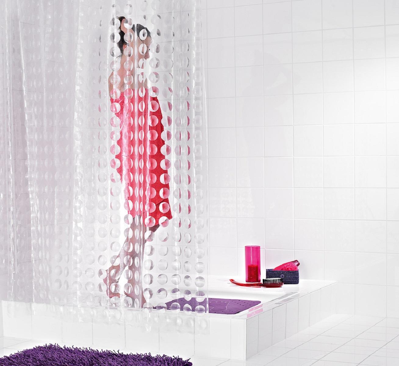 Штора для ванной комнаты Ridder Loupe, 180 х 200 см391602Оригинальная шторка Ridder Loupe создаст прекрасное настроение в ванной комнате. Она выполнена из высококачественного материала и не имеет запаха.