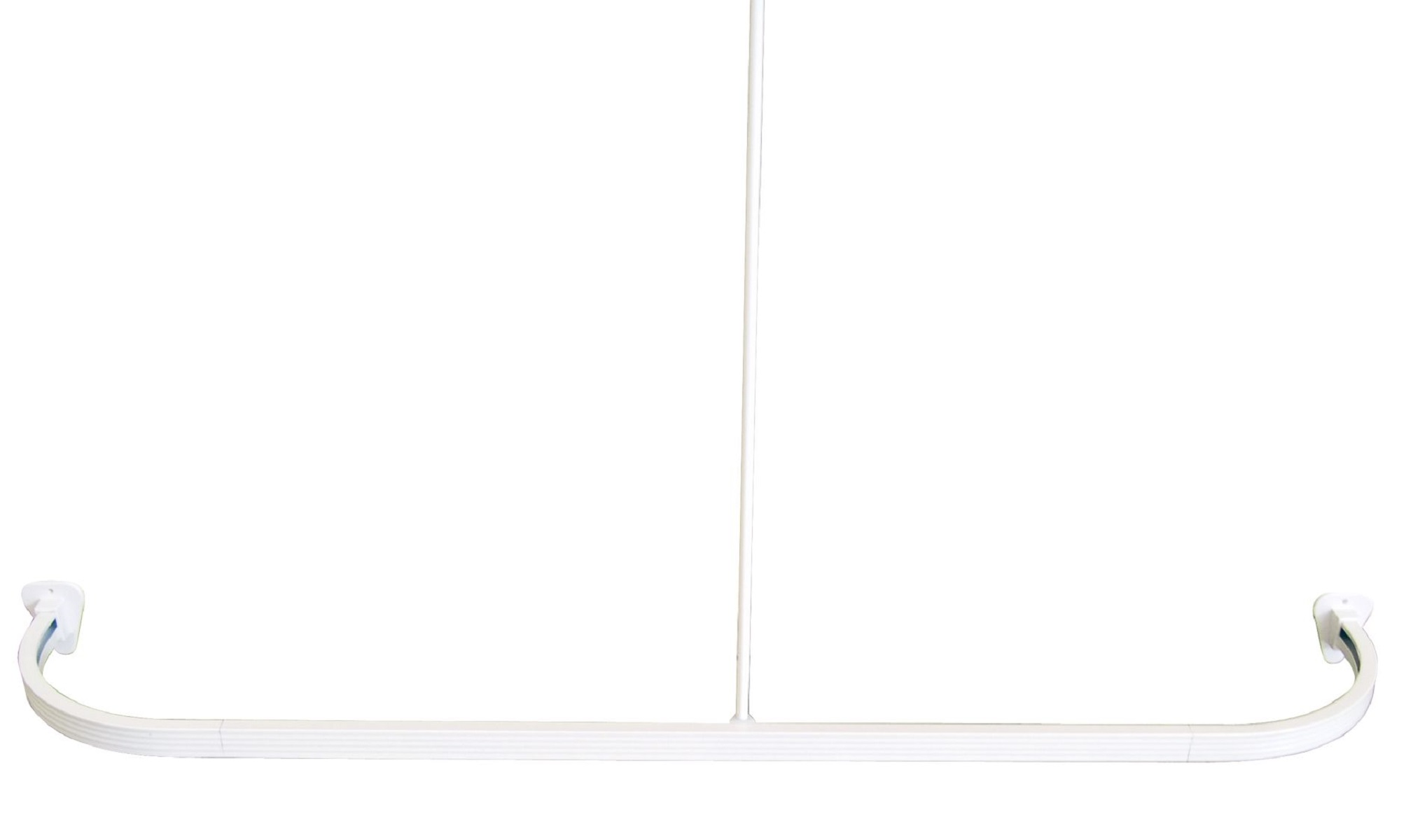 Штанга для ванной комнаты Ridder, универсальная, цвет: белый. 5250168/5/2Высококачественная немецкая штанга выполнена из алюминия. Максимальный размер: 160 х 70 см. Крючки для штор вставляются в нижние полозья. Для предотвращения царапин на штангу из спрессованного алюминия наносится специальное покрытие. Установка данной штанги требует сверления. Комплект: штанга - 3 шт штанга потолочная - 1 шт угловой соединитель - 2 шт крепление к стене - 2 шт саморез+дюбель - 6 шт