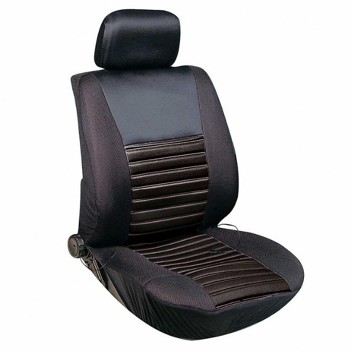 Чехол на сиденье Skyway 12V, с подогревом, цвет: черный, 116 х 56 смВетерок 2ГФЧехол на сиденье Skyway 12V, изготовленный из полиэстера, снижает усталость при управлении автомобилем и обеспечивает комфортное вождение в холодное время года.В качестве теплоносителя применяется углеродный материал. Такой нагреватель обладает феноменальной гибкостью и прочностью на разрыв в отличие от аналогов, изготовленных из медного или иного металлического провода.Устройство подключается к прикуривателю на 12V.Размер чехла: 116 х 56 см.