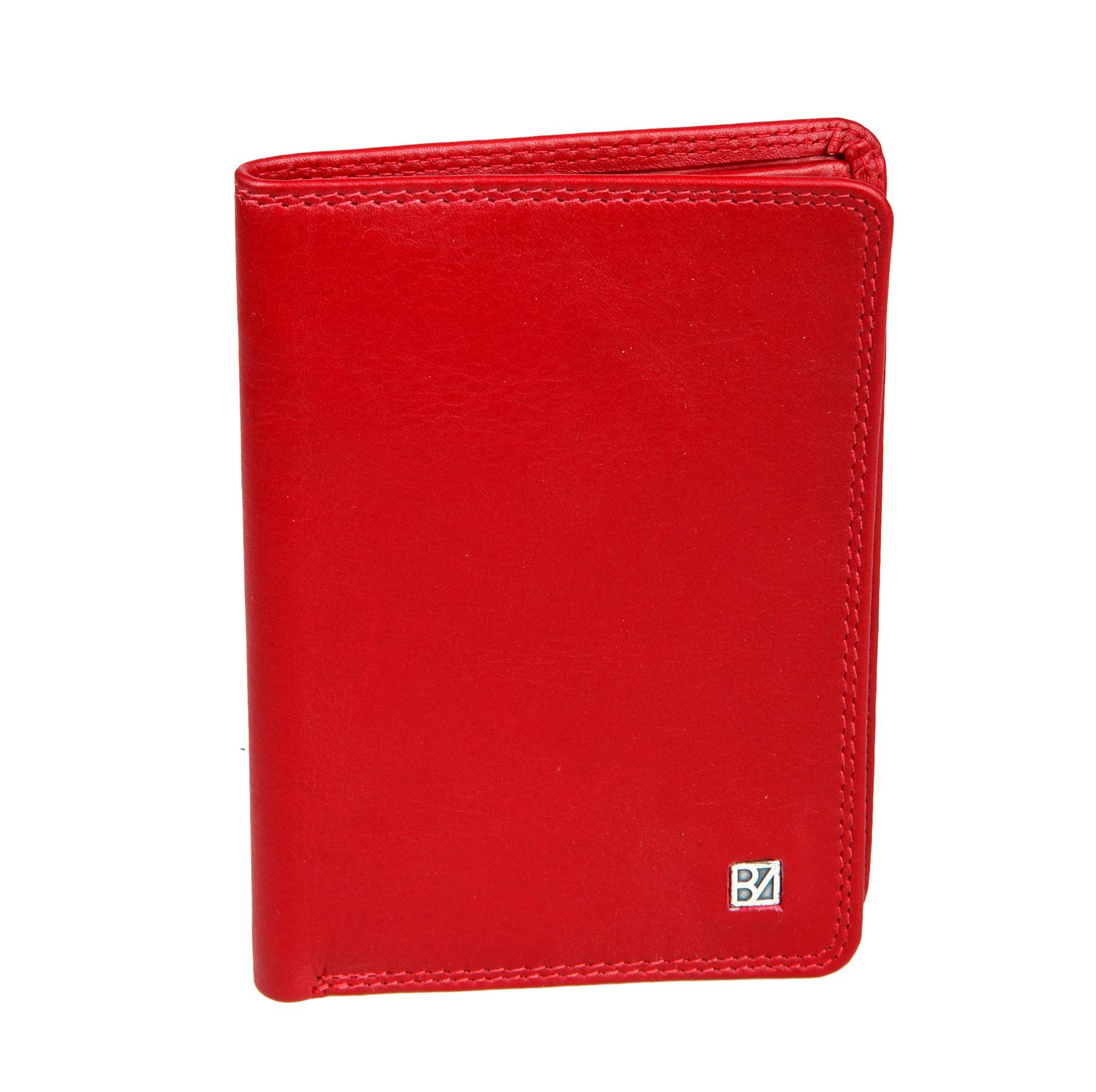 Портмоне женское Bodenschatz, цвет: красный. 8-840BM8434-58AEПортмоне женское Bodenschatz выполнено из натуральной кожи. Модель раскладывается пополам, внутри один отдел для купюр, один потайной карман, три кармашка для пластиковых карт, два кармашка для документов, один из них в сеточку.