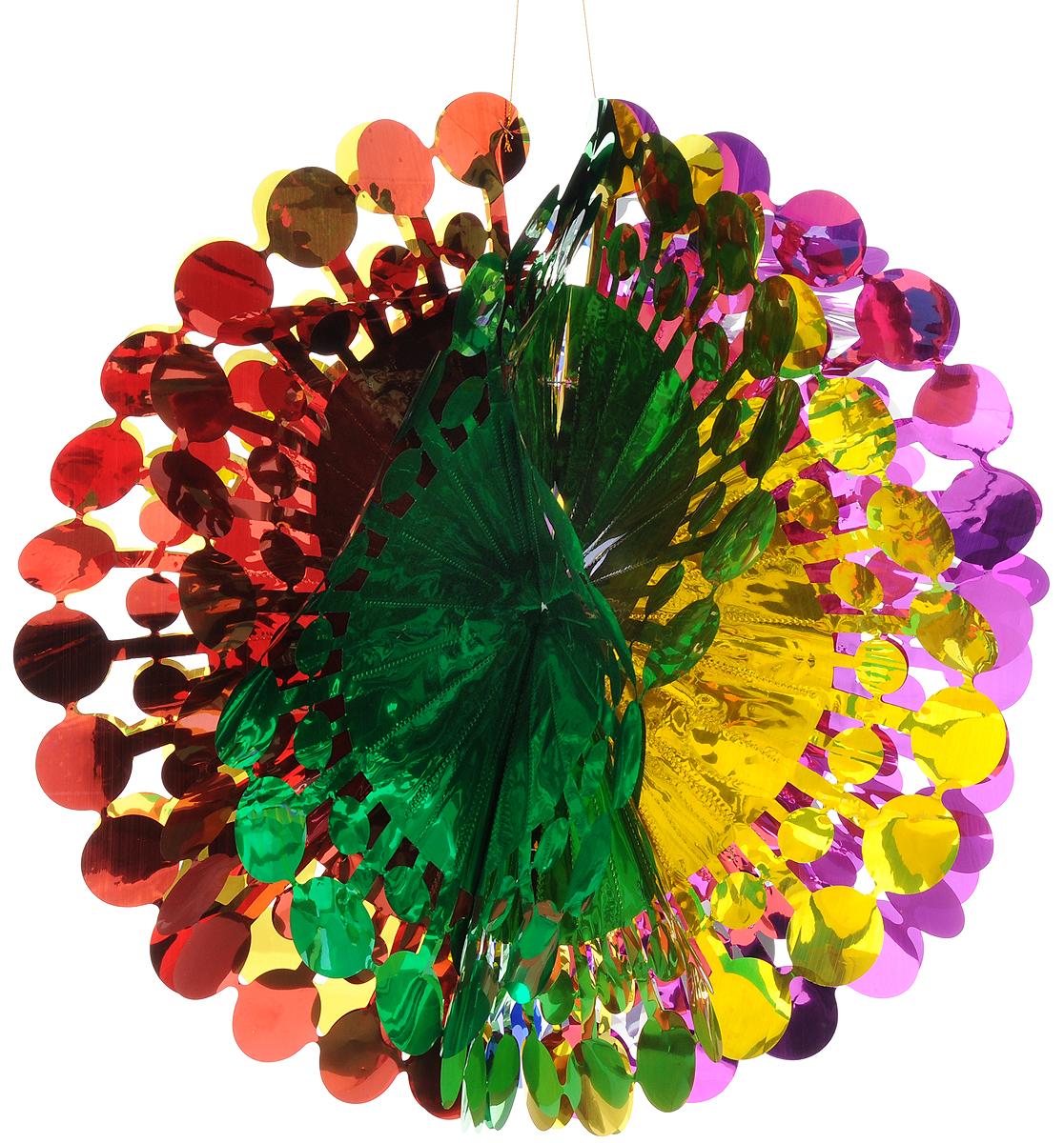 Украшение новогоднее подвесное Magic Time Шар цветной, 47 x 24 смC0038550Новогоднее подвесное украшение Magic Time Шар цветной выполнено из ПЭТ (полиэтилентерефталат) в виде огромного шара. С помощью специальной петельки украшение можно повесить в любом понравившемся вам месте. Игрушка удачно будет смотреться под потолком.Новогоднее украшение Magic Time Шар цветной несет в себе волшебство и красоту праздника. Создайте в своем доме атмосферу веселья и радости, с помощью игрушек, которые будут из года в год накапливать теплоту воспоминаний.Материал: полиэтилентерефталат.Размер (в сложенном виде): 47 х 24 см.