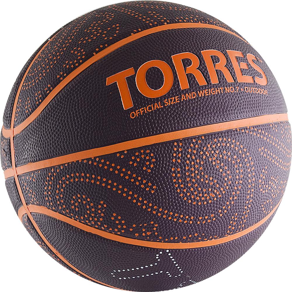 """Мяч баскетбольный Torres """"TT"""", цвет: бордовый, оранжевый. Размер 7"""