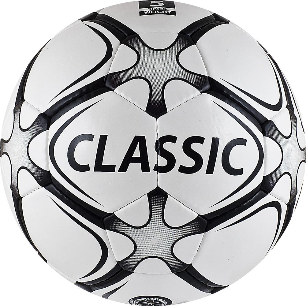 Мяч футбольный Torres Classic, цвет: белый, серый, черный. Размер 528260649Футбольный мяч Torres Classic отлично подходит для игр тренировочного уровня на любых поверхностях в любых погодных условиях (при соблюдении условий эксплуатации и ухода).Надежный, хорошо зарекомендовавший себя мяч. Он состоит из32 панелей и 4 подкладочных слоев.Камера выполнена из латекса, а покрышка из имитирующего натуральную кожу полиуретана с микрорельефной структурой.