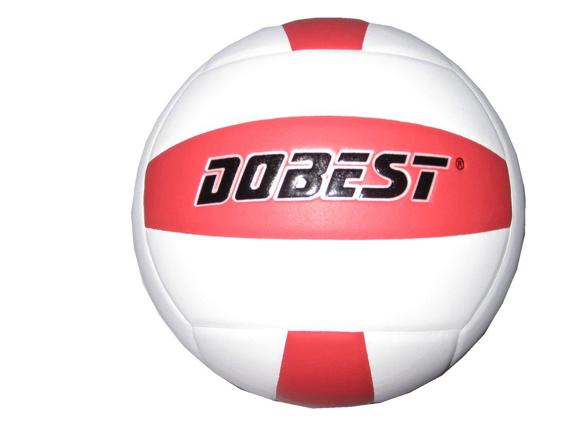 Мяч волейбольный Dobest SU200, цвет: белый, красный. Размер 528262371Мяч клееный волейбольный DOBEST SU200 прекрасно подходит для любительских игр в зале и на улице.Он состоит из 18 панелей и 4 слоев.Изготовлен из синтетической кожи, камера выполнена из резины.