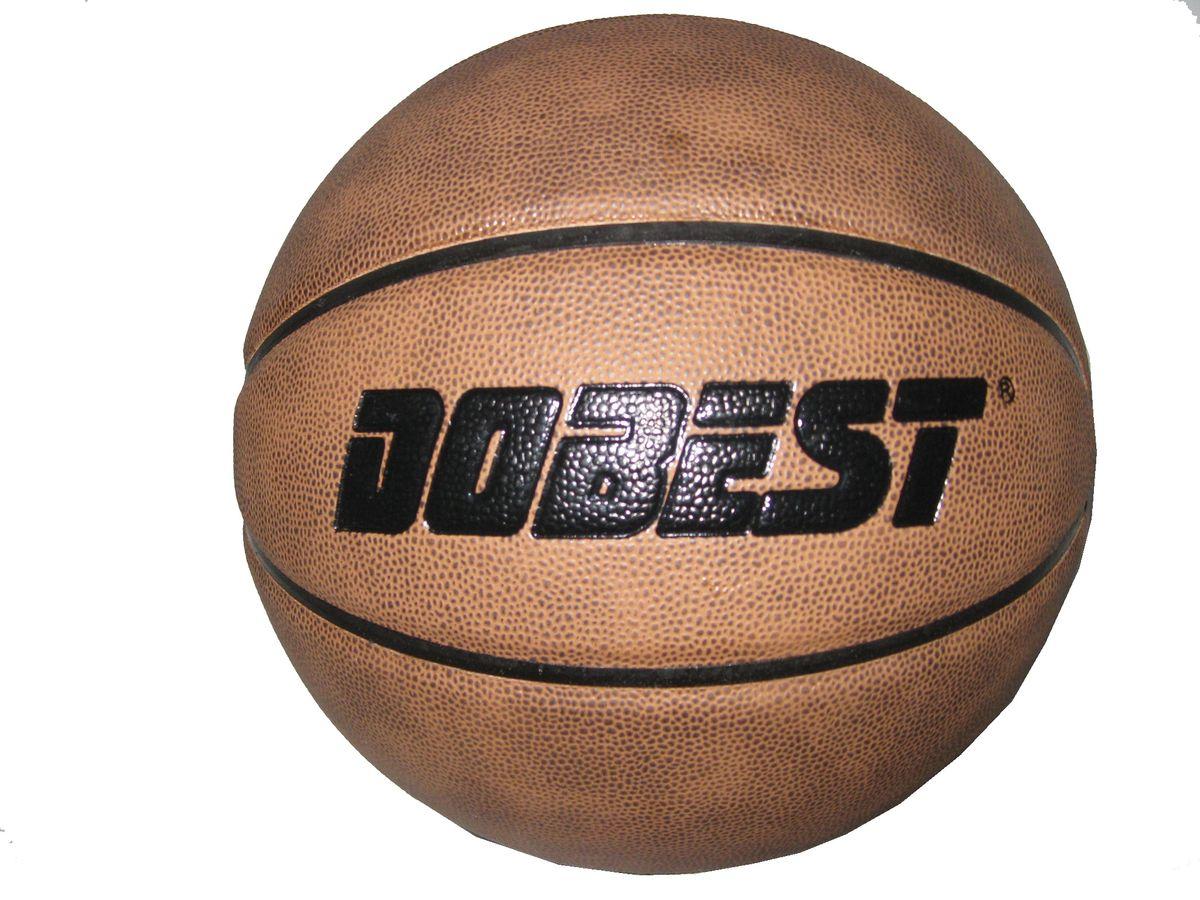 Мяч баскетбольный Dobest PK300, цвет: коричневый. Размер 7120335_red/whiteМяч баскетбольный PK300 отлично подойдет для игры в зале и на улице. Он выполнен в коричневых оттенках. Преимущества:- мяч изготовлен благодаря новейшим технологиям и с учетом особенностей кисти, что позволяет добиваться высоких результатов, - покрытие из синтетической кожи хорошо впитывает влагу с ладоней, что способствует хорошему контролю мяча,- глубокие каналы помогают четко ощущать поверхность мяча.