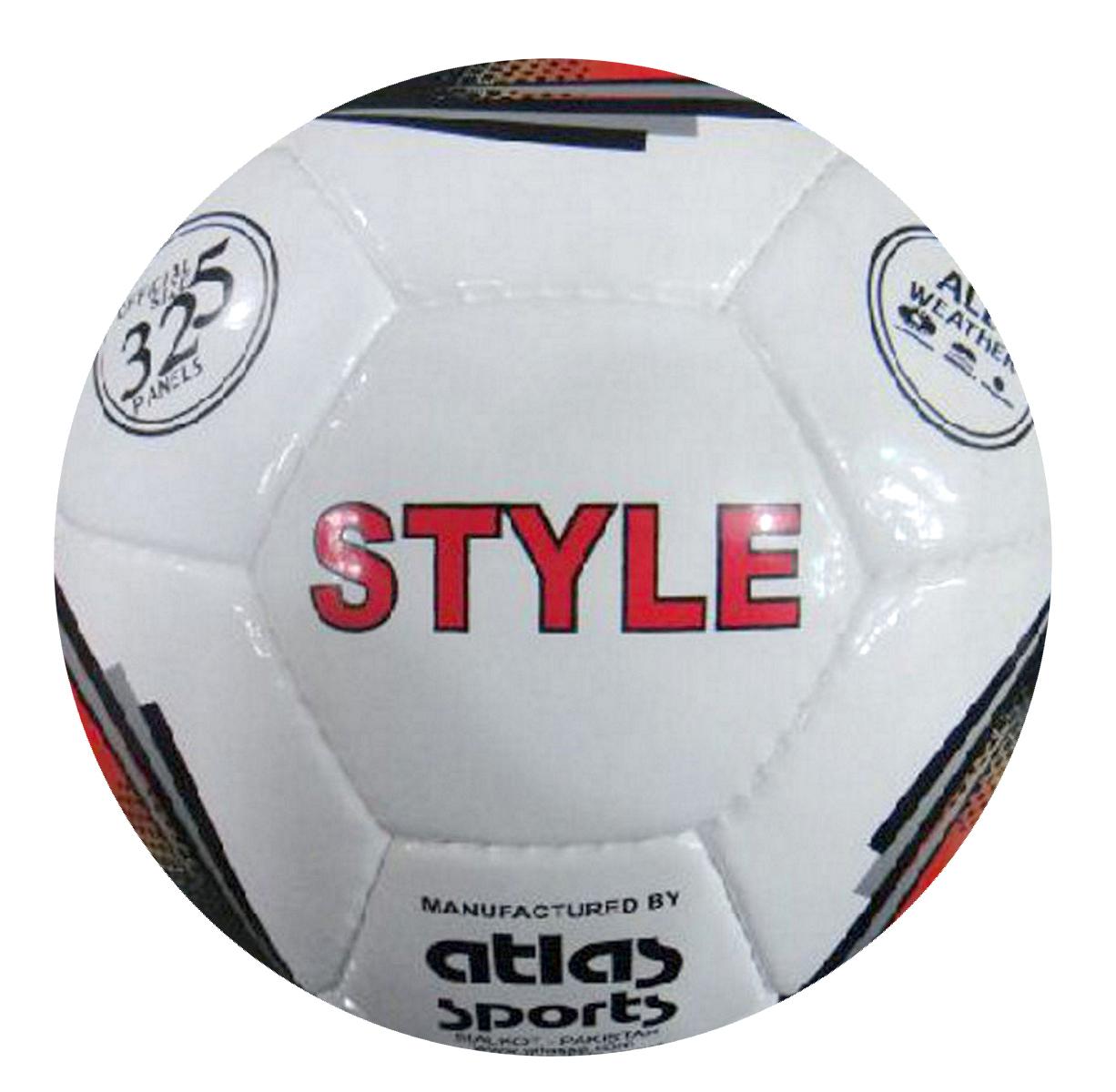 Мяч футбольный Atlas Style, белый, красный, золотой. Размер 5200170Футбольный мяч Atlas Style предназначен для проведения соревнований и игр команд среднего и любительского уровней, отлично подходит и для интенсивных тренировок. Мяч подходит для игры на любых поверхностях, но особенно рекомендуется для натуральных и искусственных газонов, полей с синтетическим покрытием различной степени жесткости. Также подходит для игры в любых погодных условиях (при соблюдении условий эксплуатации и ухода).Состоит из 32 панелей и 4 подкладочных слоев. Камера выполнена из латекса, она имеет бутиловый нипель, а покрышка из синтетической кожи.
