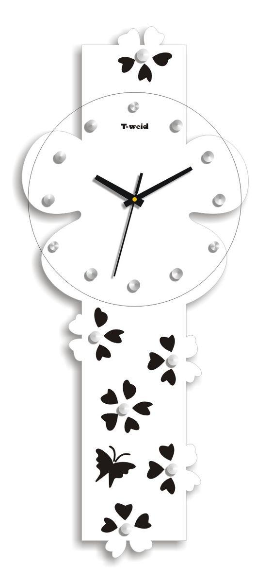 Часы настенные T-Weid, цвет: белый, 25 х 59 х 5 см94672Настенные кварцевые часы - это прекрасный предмет декора, а также универсальный подарок практически по любому поводу. Корпус часов, выполнен из дерева с белым матовым покрытием.Циферблат часов оснащен тремя фигурными стрелками: часовой, минутной и секундной. Часы украшены стразами. Циферблат и стрелки защищены прочным стеклом, который крепится четырьмя металлическими крепежами к корпусу. На задней стенке часов расположена металлическая петелька для подвешивания и блок с часовым механизмом. Часы прекрасно впишутся в любой интерьер. Тип механизма: плавающий, бесшумный. Рекомендуется докупить батарейку типа АА (не входит в комплект).
