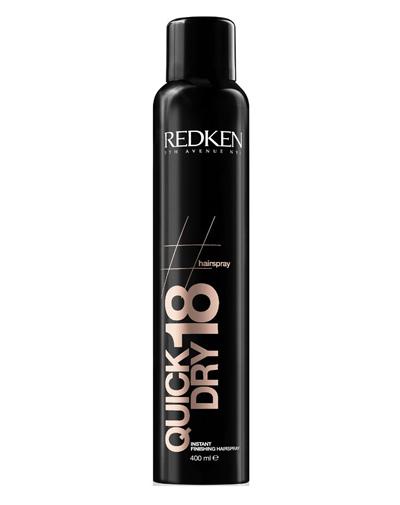 Redken Hairsprays Quick Dry18 Сухой спрей мгновенной фиксации для завершения укладки, 400 млFS-36054Спрей обеспечивает стойкую фиксацию даже самой сложной прически. Он великолепно сохнет и не придает ощущения тяжелых, склеенных волос. Его уникальные компоненты наполняют волосы блеском и здоровьем. Действие Антифриз, которым обладает уникальный спрей, предотвращает электризацию волос.