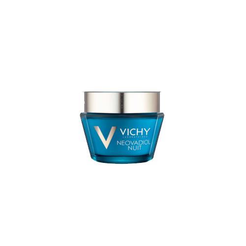 Vichy Neovadiol Компенсирующий комплекс ночной уход для кожи в период менопаузы, 50 мл72523WDВ результате 14 лет исследований был разработан инновационный уход, который помогает компенсировать замедление естественного механизма регенерации кожи вновь наполнить ее молодостью.Замедление процессов регенерации - это первопричина быстрых изменений кожи в период менопаузы: - Снижение плотности кожи; - Изменения овала лица; - Углубление морщин; - Снижение эластичности кожи; - Неровный микрорельеф; - Сухость, хрупкость кожи.Neovadiol компенсирующий комплекс объединяет 4 активных дерматологических ингредиента в рекордной концентрации: про-ксилан активирует выработку собственного коллагена кожи, восстанавливая слой за слоем и делая морщины менее заметными; Hepes и Hydrovance ускоряют процессы регенерации изнутри;гиалуроновая кислота интенсивно увлажняет кожу.Для чувствительной кожи, гипоаллергенно, на основе минерализующей термальной воды.