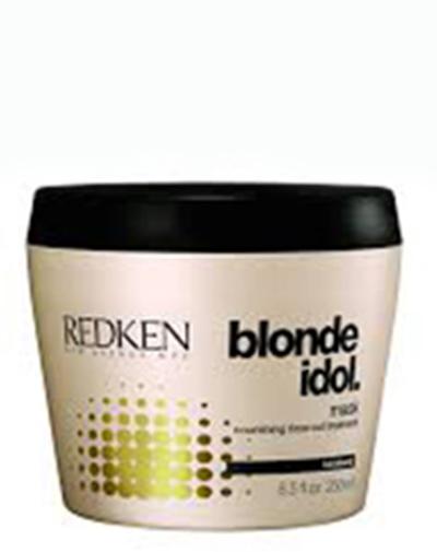 Redken Blonde Idol Маска для питания и смягчения светлых волос, 250 млMP59.4DМаска проникает глубоко в структуру волоса, увлажняя его и закрепляя пористые участки, восстанавливает волосы.