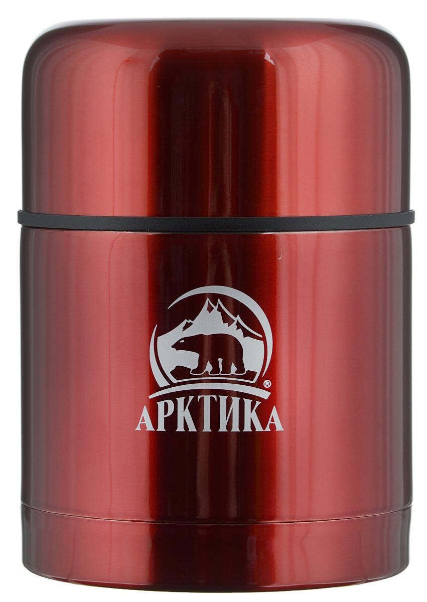 Термос  Арктика , с широким горлом, цвет: красный, 0,5 л. 302-500 - Туристическая посуда
