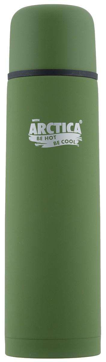 Термос Арктика, цвет: зеленый, 1 л. 103-100067743Классический термос Арктика с резиновым шелковым покрытием сохранит температуру напитков. Термос выполнен из нержавеющей стали с использованием пищевого пластика с отделкой эффект шелка. Ударопрочный корпус состоит из двух колб, выполненных из нержавеющей стали с вакуумом между ними. Термос оснащен удобной пробкой с каналами для наливания воды в полуоткрытом положении.Стильный функциональный термос будет незаменим в дороге, на пикнике. Его можно взять с собой куда угодно, и вы всегда сможете наслаждаться горячим домашним напитком.Диаметр горлышка: 5,2 см.Диаметр основания: 8,4 см.Высота (с учетом крышки): 30,5 см.Время сохранения температуры (холодной и горячей): 26 часов.