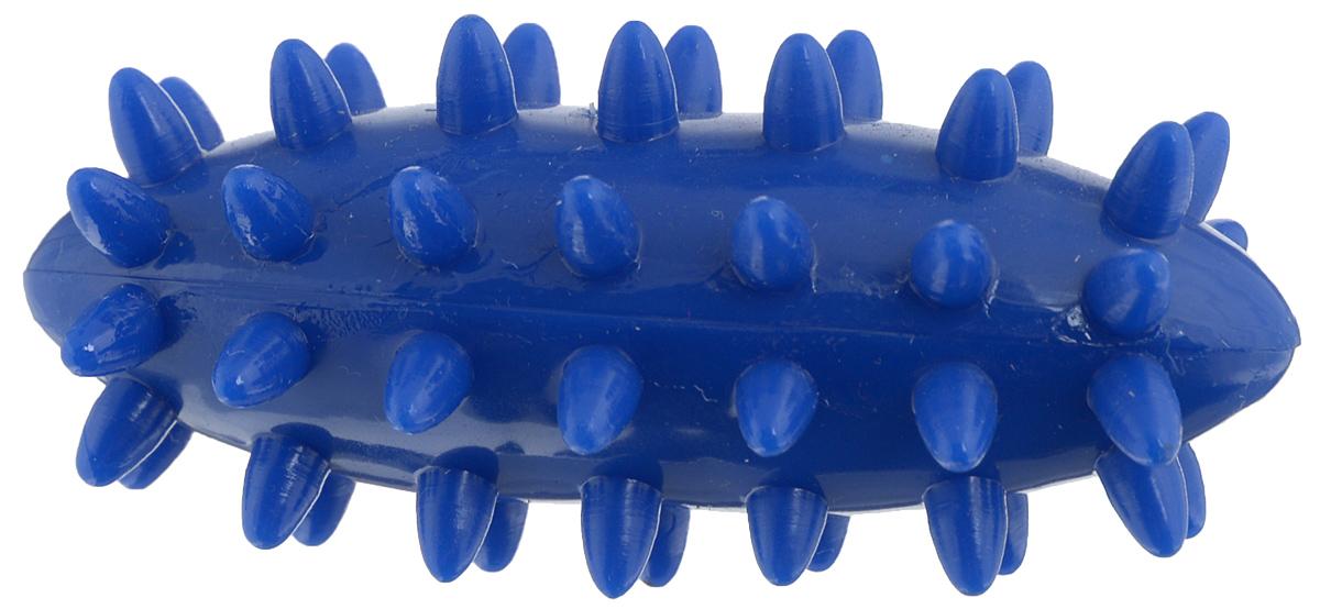 Игрушка для собак V.I.Pet Массажный мяч. Регби, цвет: синий, 7,5 х 3,5 см0120710Игрушка для собак V.I.Pet Массажный мяч. Регби, изготовленная из ПВХ, предназначена для массажа и самомассажа рефлексогенных зон. Она имеет мягкие закругленные массажные шипы, эффективно массирующие и не травмирующие кожу. Игрушка не позволит скучать вашему питомцу ни дома, ни на улице.