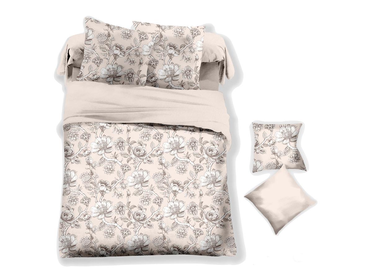 Комплект белья Cleo Льняная мягкость, 2-спальный, наволочки 70х70FD 992Коллекция постельного белья из микросатина CLEO – совершенство экономии, но не на качестве! Благодаря новейшим технологиям микросатин – это прочность, легкость, простота в уходе, всегда яркие цвета после стирки. Микро-сатин набирает все большую популярность, благодаря своим уникальным характеристикам. Окраска материала - стойкая, цветовая палитра - яркая, насыщенная. Микро-сатин хорошо впитывает влагу, а после стирки быстро сохнет, становясь шелковистым на ощупь, мягким и воздушным. Комплект состоит из пододеяльника, двух наволочек и простыни.