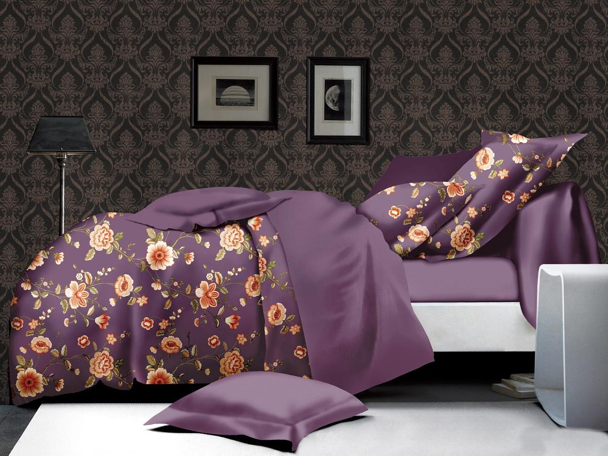 Комплект белья Cleo Цветочный комплимент, 1,5-спальный, наволочки 70х70FD 992Коллекция постельного белья из микросатина CLEO – совершенство экономии, но не на качестве! Благодаря новейшим технологиям микросатин – это прочность, легкость, простота в уходе, всегда яркие цвета после стирки. Микро-сатин набирает все большую популярность, благодаря своим уникальным характеристикам. Окраска материала - стойкая, цветовая палитра - яркая, насыщенная. Микро-сатин хорошо впитывает влагу, а после стирки быстро сохнет, становясь шелковистым на ощупь, мягким и воздушным. Комплект состоит из пододеяльника, двух наволочек и простыни.