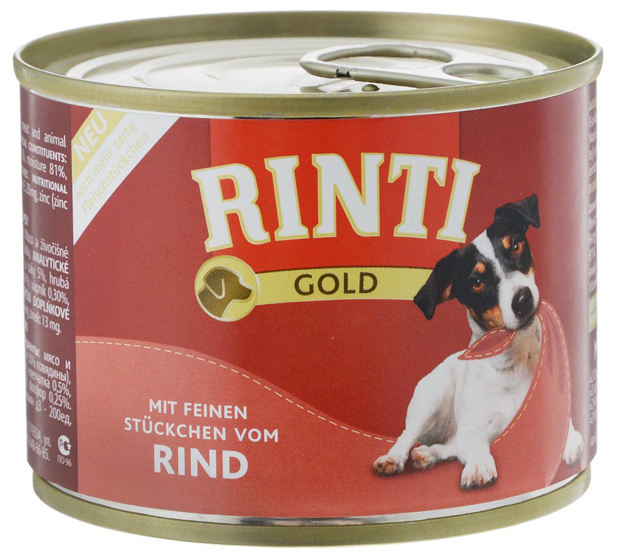 Консервы для собак Rinti Gold, c говядиной, 185 г40422Полноценный корм для собак Rinti Gold не содержитискусственного мяса, красителей и сои. Маленькаябаночка 185 грамм специально для собачек мелкихпород. Одна баночка на день. Корм не вызываеталлергии. Ингредиенты: мясо и продукты его переработки (в томчисле 50% говядины), минералы.Состав: белок 10%, жир 5%, клетчатка 0,5%, зола 2,5%,влага 81%, кальций 0,3%,фосфор 0,25%.Добавки: пищевые добавки / кг: Витамин Д3 - 200 ед,Витамин Е - 20 мг, цинк 13 мг.Товар сертифицирован.