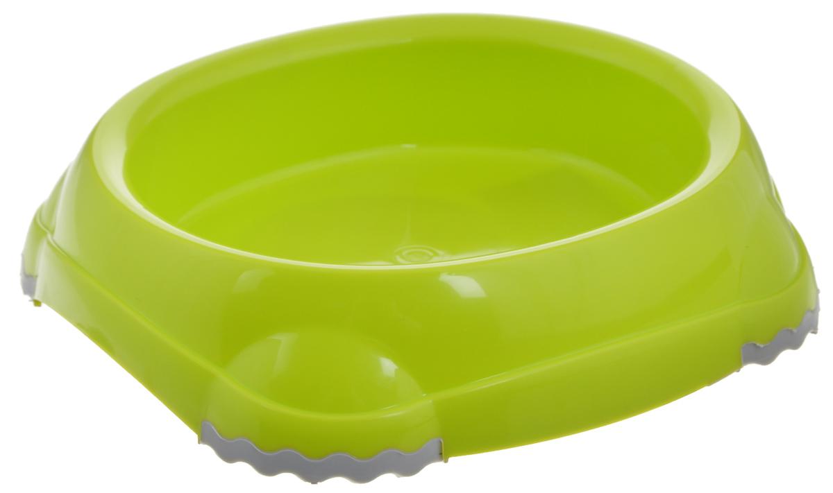 Миска для животных Moderna Smarty bowl, с антискольжением, цвет: салатовый, 12 х 10 х 3 см0120710Удобная и оригинальная миска для кошек Moderna Smarty bowl выполнена из пищевого пластика с нескользящими вставками. Можно использовать для воды и корма. Миска устойчива и не переворачивается. Высококачественная полировка, устойчива к деформации. Можно мыть в посудомоечной машине. Размер миски: 12 х 10 х 3 см .