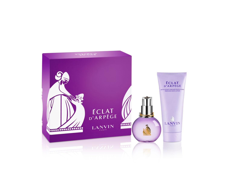 Lanvin Arpege Eclat Woman Подарочный набор: парфюмированная вода 50 мл + лосьон для тела 100 мл65102234Цветочные, фруктовые. Пион, цветок персика, чай, амбра, мускус, сирень, злаки, кедр, османтус.