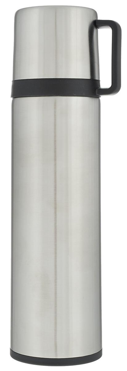 Термос Tescoma Constant, с крышкой-кружкой, цвет: серебристый, 0,5лVT-1520(SR)Термос Tescoma Constant - это вакуумный термос с двойной колбой из высококачественной нержавеющей стали. Термос сохраняет напитки горячими и холодными на протяжении длительного времени. Оснащен крышкой и пробкой с кнопкой для удобного розлива без снижения температуры. Термос Tescoma Constant прекрасно подходит для дома, офиса и для путешествий. Сохранение температуры в термосе зависит от количества и температуры напитка, от частоты его открывания и от температуры воздуха.Диаметр термоса по верхнему краю: 4,5 см.Диаметр дна: 7 см.Высота термоса с учетом крышки: 25,7 см.