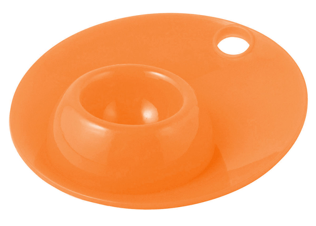 Силиконовая подставка для яйца Regent Inox Завтрак, цвет: оранжевый93-SI-CU-24.1