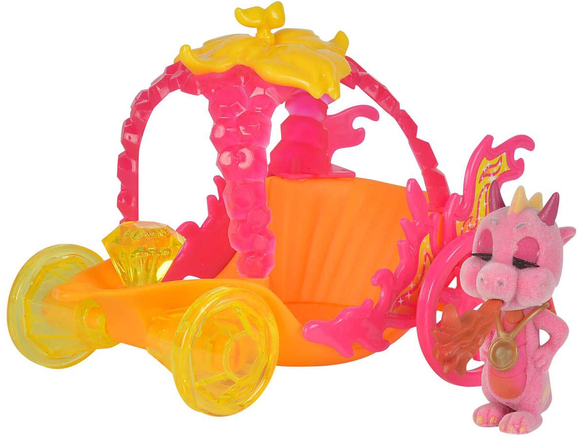 Simba Игровой набор Карета дракончиков Safiras цвет розовый оранжевый