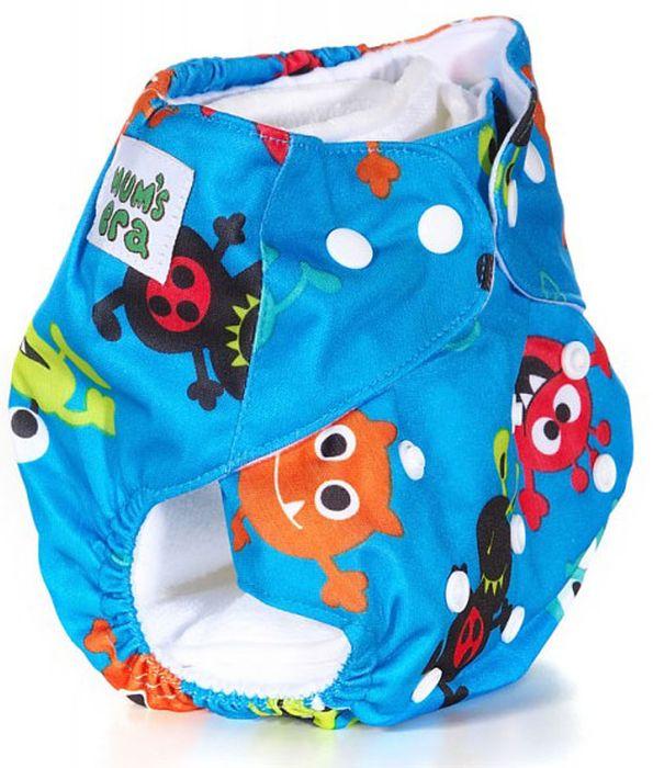 Mum's Era Многоразовый подгузник Чудики 2 вкладыша mum s era многоразовый подгузник цвет сиреневый 2 вкладыша