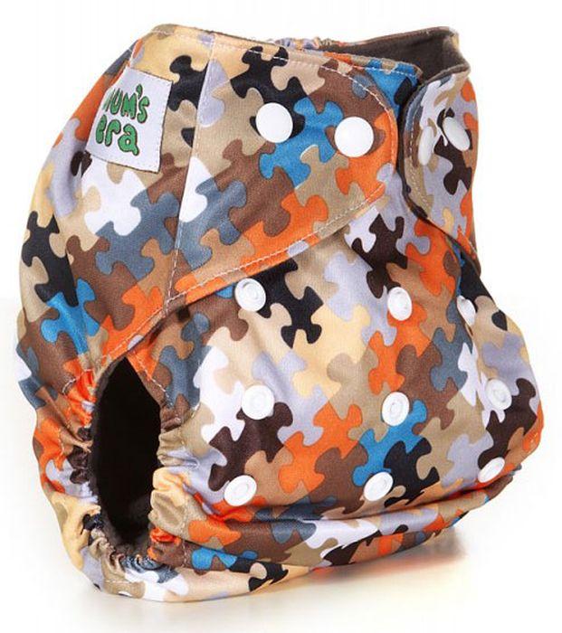 Mum's Era Многоразовый подгузник Пазлы 2 вкладыша mum s era многоразовый подгузник цвет сиреневый 2 вкладыша