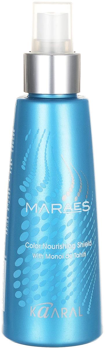 Kaaral Защитное средство, спрей с тайским Моной Color Nourishing Shield, 125 мл1106462021Питательный защитный спрей - микро-эмульсия с инновационной формулой, которая сочетает в себе исключительные питательные свойства масла Моной и лечебный эффект масла Лимнантеса. Содержит защитные UVA и UVB фильтры. Волосы великолепно расчёсываются, выглядят здоровыми и ухоженными. Надолго сохраняет косметический цвет волос. Защищает волосы от агрессивного воздействия окружающей среды и свободных радикалов. Не содержит парабенов, глютена, соли, дерматологически протестировано. Биоразлагающаяся упаковка. Масло Моной имеет сертификат Био.