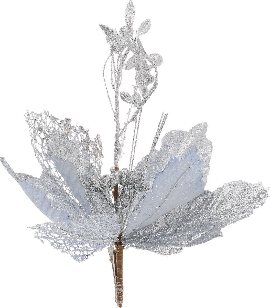 Украшение новогоднее Феникс-Презент Цветок, на клипсе, цвет: серебристый, длина 22 смNLED-454-9W-BKНовогоднее украшение Феникс-Презент Цветок выполнено из поливинилхлорида в форме цветка на клипсе. Украшение можно прикрепить в любом понравившемся вам месте. Но, конечно, удачнее всего оно будет смотреться на праздничной елке.Елочная игрушка - символ Нового года. Она несет в себе волшебство и красоту праздника. Создайте в своем доме атмосферу веселья и радости, украшая новогоднюю елку нарядными игрушками, которые будут из года в год накапливать теплоту воспоминаний.