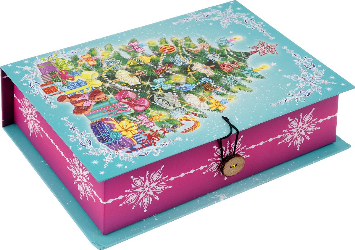Коробка подарочная Феникс-Презент Пушистая елочка, 20 х 14 х 6 см подарочная коробка машинки 20 см х 14 см х 6 см