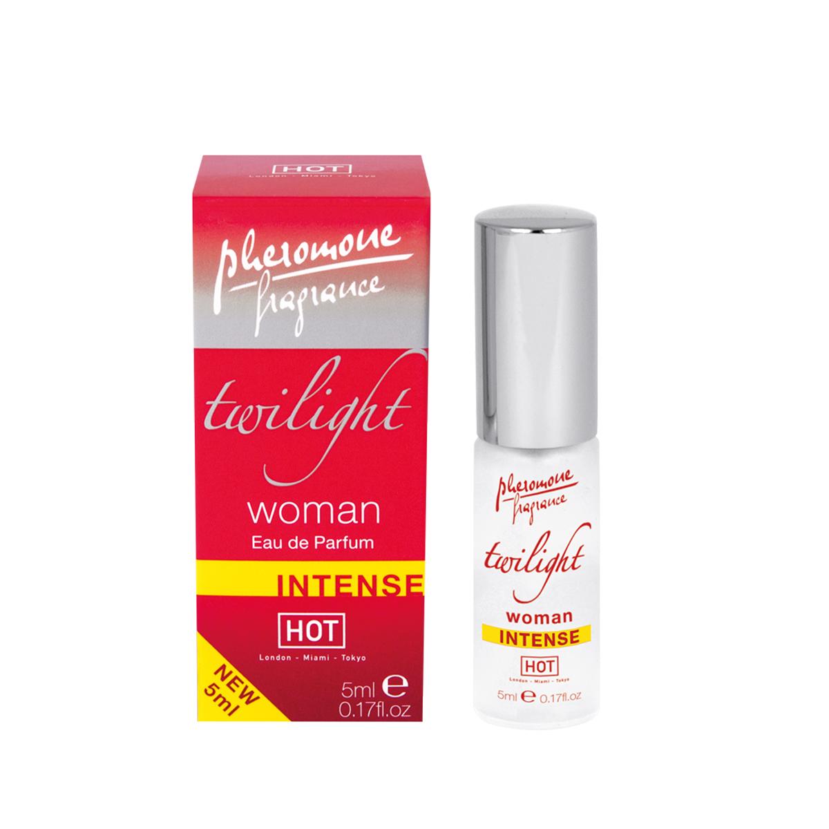 Hot Женские духи с феромонами Twilight Intense, 5 мл55055Высококачественный парфюм, обогащенный феромонами. Этот аромат поразит желанную цель прямо в сердце!