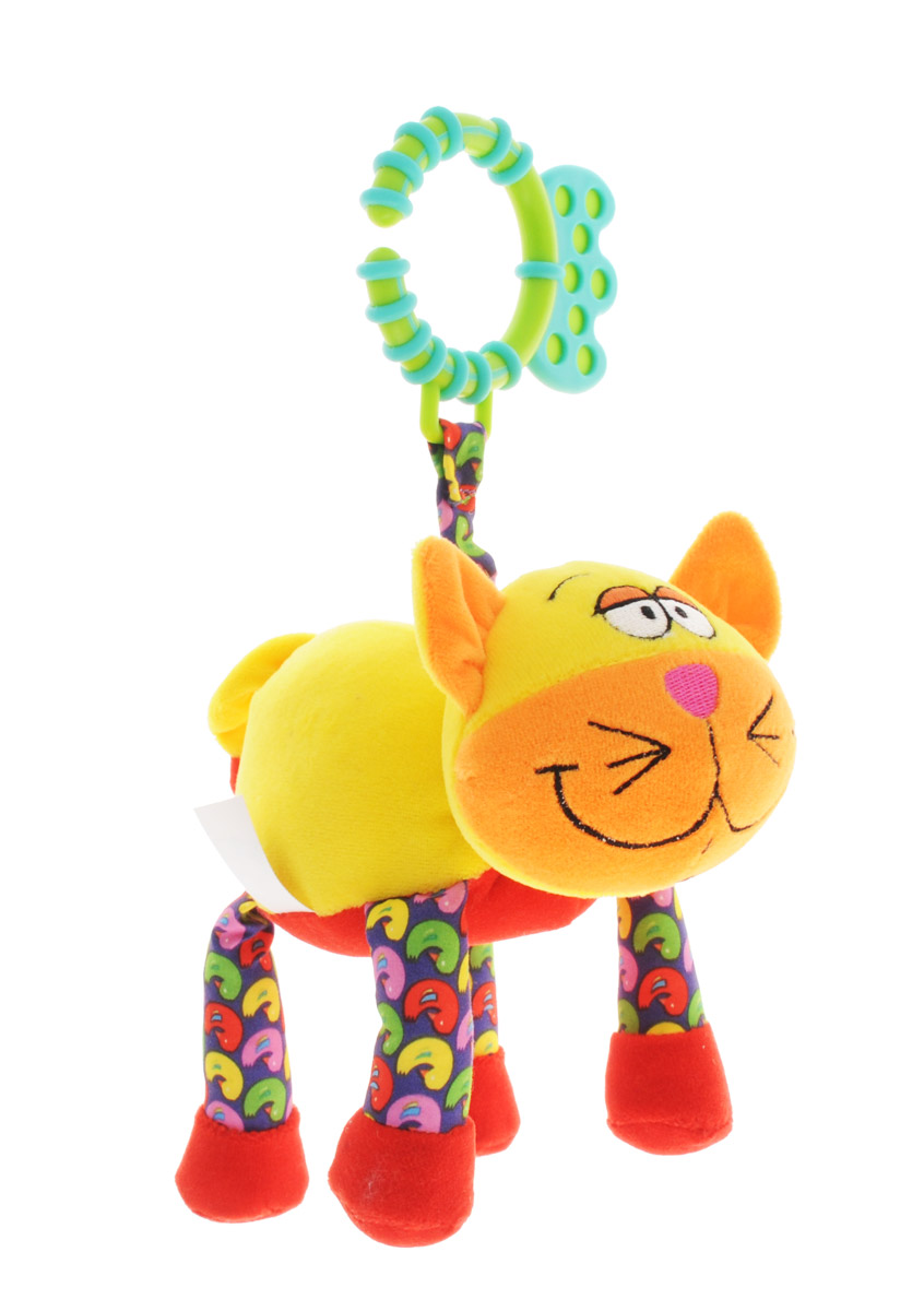 Bondibon Мягкая развивающая игрушка-растяжка Кот, Bondibon Creatures Co., LTD