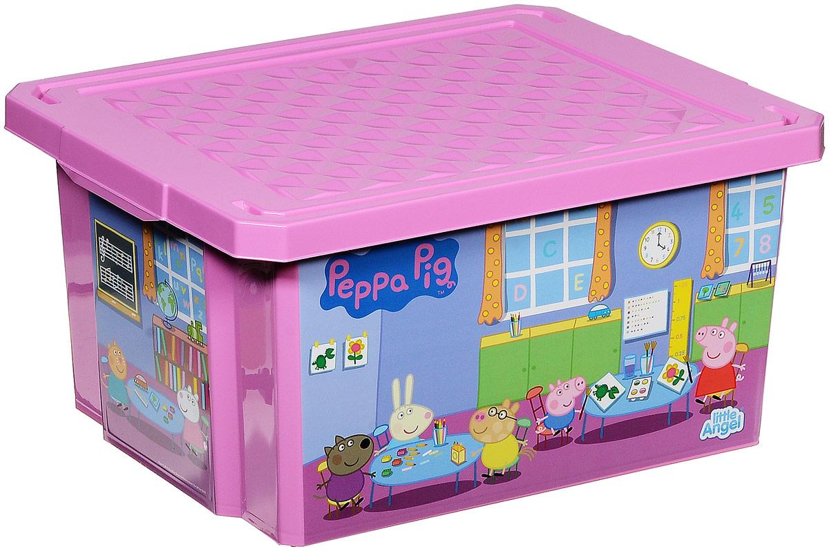 Little Angel Ящик для игрушек X-Box Свинка Пеппа 17 лLA0023PPPЗДетский ящик для игрушек Little Angel X-Box Свинка Пеппа выполнен из прочного материала и украшен рисунками из любимого мультфильма о Свинке. В нем можно удобно и компактно хранить белье, одежду, обувь или игрушки. Ящик оснащен плотно закрывающейся крышкой, которая защищает вещи от пыли, грязи и влаги.Такой ящик непременно привлечет внимание ребенка и станет незаменимым для хранения игрушек, книжек и других детских принадлежностей. Он отлично впишется в детскую комнату и поможет приучить ребенка к порядку.