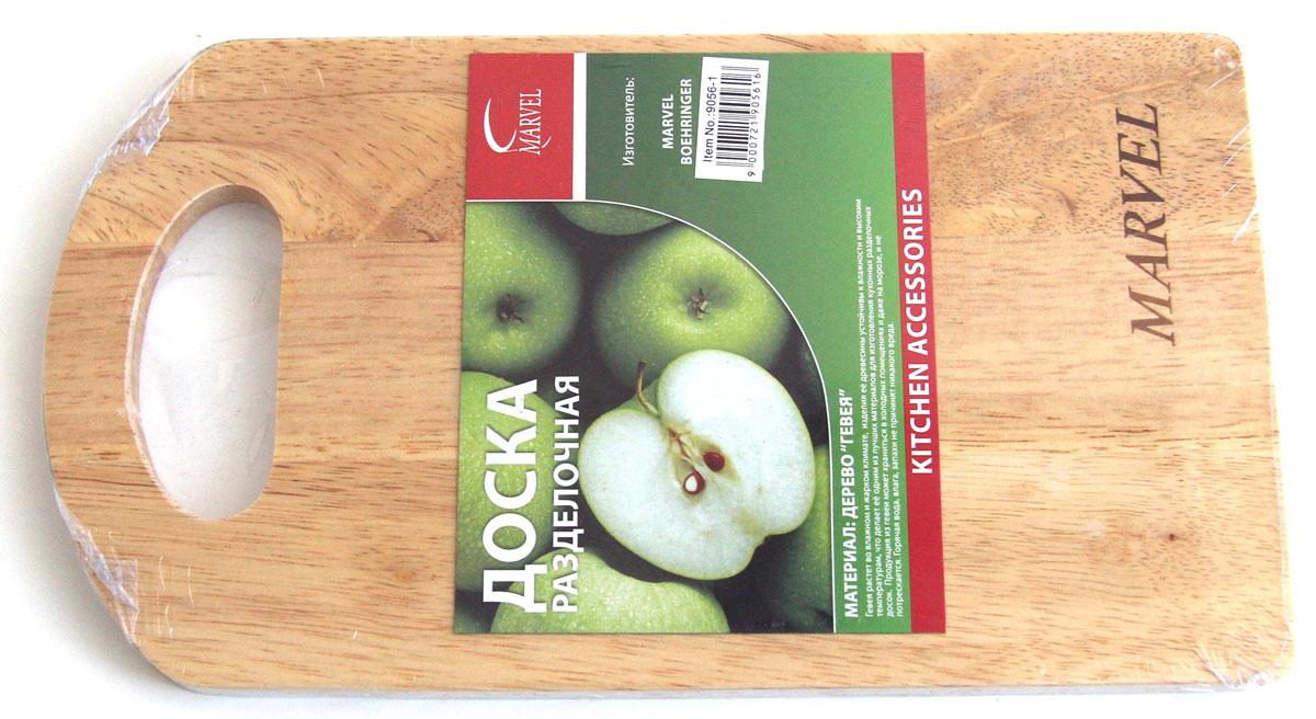 Доска разделочная Marvel, 27 х 15 х 1 см391602Разделочная доска Marvel, выполненная из дерева, прекрасно впишется в интерьер любой кухни и прослужит вам долгие годы.