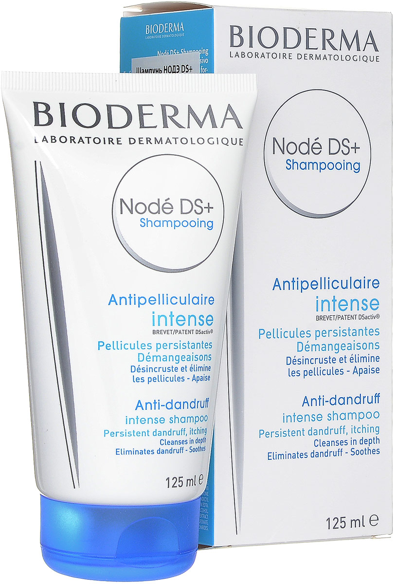Bioderma Шампунь от перхоти Node DS+, 125 млFS-00897Шампунь при хронической рецидивирующей перхоти, сопровождающейся сильным зудом.Устраняет шелушение, успокаивает, устраняет зуд, способствует устранению чешуек. Шампунь легок и удобен в применении, хорошо пенится, имеет нежный приятный запах. Высокая переносимость.