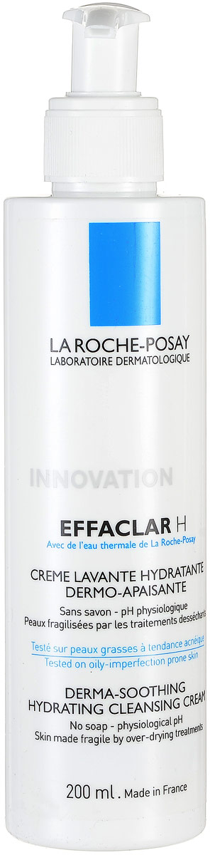 La Roche-Posay Effaclar Н Очищающ гель-крем, 200 мл la roche posay лосьон для сужения пор с микро отшелушивающим эффектом для жирной проблемной кожи effaclar 200 мл