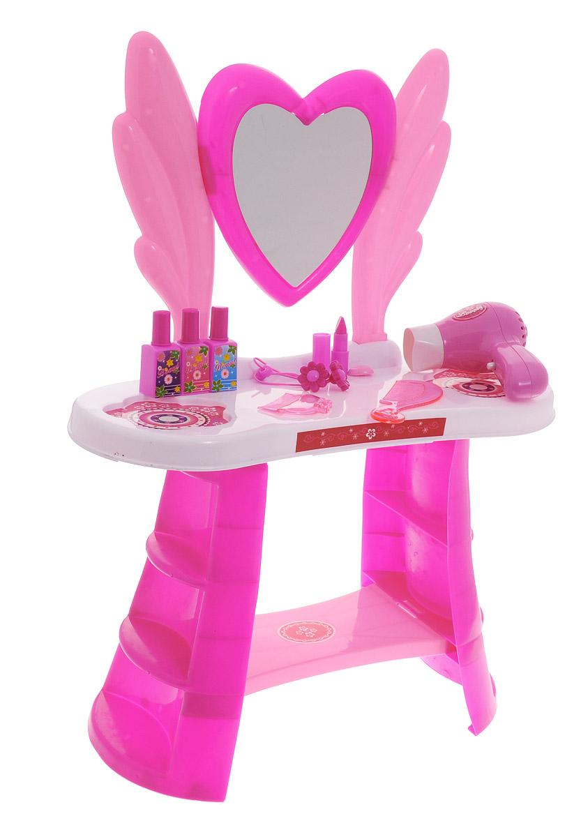 1TOY Туалетный столик Стилист Сердце большой 10 предметов, Solmar Pte Ltd