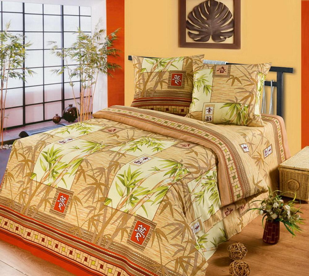 Комплект белья Cleo Китайский бамбук, евро, наволочки 70x70, цвет: бежевый391602Комплект постельного белья Cleo выполнен из высококачественной бязи (100% хлопок), которая идеально подходит для любого времени года Постельное белье из бязи имеет ряд уникальных свойств: экологичность, гипоаллергенность, сохраняет внешний вид на долгие годы, не садится, легко гладится, не накапливает статического электричества, обладает исключительной терморегуляцией, загрязнения прекрасно отстирываются любыми средствами. Благодаря особому способу переплетения нитей в полотне, обеспечивается особая плотность ткани, что делает ее устойчивой к износу. Высокая плотность – это залог прочности и долговечности, однако она не влияет на удовольствие от прикосновения. Благодаря пигментному способу нанесения печати даже после многократных стирок в деликатном режиме постельное белье сохраняет свой первоначальный вид. Такое постельное белье окутает вас своей нежностью и подарит спокойный комфортный сон, а яркие оригинальные дизайны стильно дополнят интерьер спальни.
