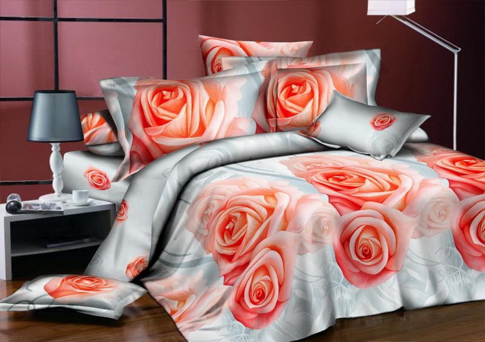 Комплект белья Cleo Коралловые розы, евро, наволочки 70x70391602Коллекция постельного белья из бязи CLEO – это классика сна. Вся коллекция выполнена из 100% хлопка, т.е. во время сна будет комфортно в любое время года! Благодаря пигментному способу нанесение печати, даже после многократных стирок (деликатный режим), постельное белье сохраняет свой первоначальный вид.Постельное белье из бязи имеет ряд уникальных свойств: экологичность, гипоаллергенность, благодаря особому способу переплетения нитей в полотне, обеспечивается особая плотность ткани, что делает ее устойчивой к износу, сохраняется внешний вид на долгие годы, загрязнения прекрасно отстирываются любыми средствами, не садится, легко гладится, не накапливает статического электричества, благодаря составу из 100% хлопка, обладает исключительной терморегуляцией. Комплект состоит из пододеяльника, двух наволочек и простыни.