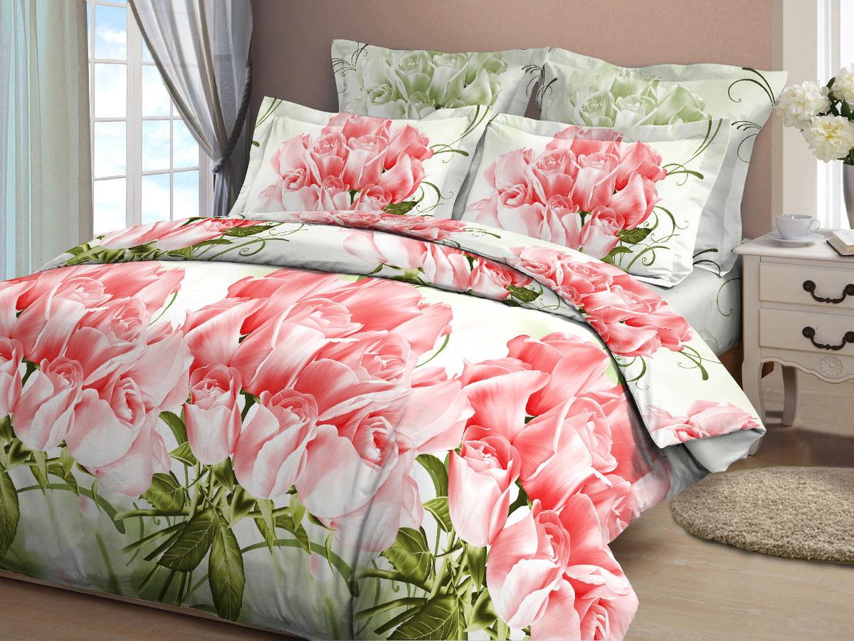 Комплект белья Cleo Коллекционные розы, евро, наволочки 70x70, цвет: розовый391602Комплект постельного белья Cleo выполнен из высококачественной бязи (100% хлопок), которая идеально подходит для любого времени года Постельное белье из бязи имеет ряд уникальных свойств: экологичность, гипоаллергенность, сохраняет внешний вид на долгие годы, не садится, легко гладится, не накапливает статического электричества, обладает исключительной терморегуляцией, загрязнения прекрасно отстирываются любыми средствами. Благодаря особому способу переплетения нитей в полотне, обеспечивается особая плотность ткани, что делает ее устойчивой к износу. Высокая плотность – это залог прочности и долговечности, однако она не влияет на удовольствие от прикосновения. Благодаря пигментному способу нанесения печати даже после многократных стирок в деликатном режиме постельное белье сохраняет свой первоначальный вид. Такое постельное белье окутает вас своей нежностью и подарит спокойный комфортный сон, а яркие оригинальные дизайны стильно дополнят интерьер спальни.