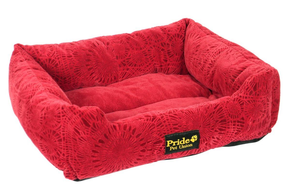 Лежак для животных Pride Фортуна, цвет: бордовый, 52 х 41 х 10 смLM4090-001m_мятныйЛежак Pride Фортуна непременно станет любимым местом отдыха вашего домашнего животного. Изделие выполнено из полиэстера, наполнитель - холлофайбер. Такой материал не теряет своей формы долгое время. На таком лежаке вашему любимцу будет мягко и тепло. Он подарит вашему питомцу ощущение уюта и уединенности.