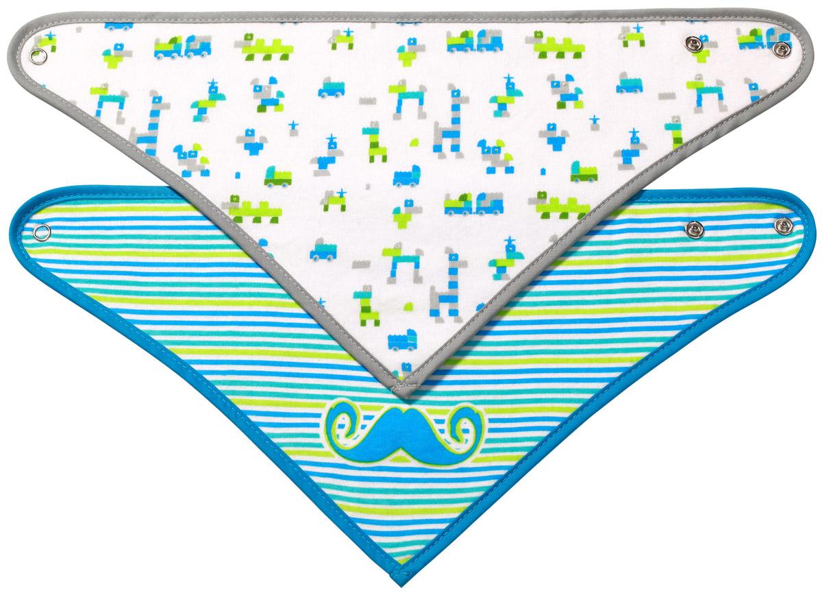 BabyOnoНабор нагрудников цвет голубой серый 2 шт