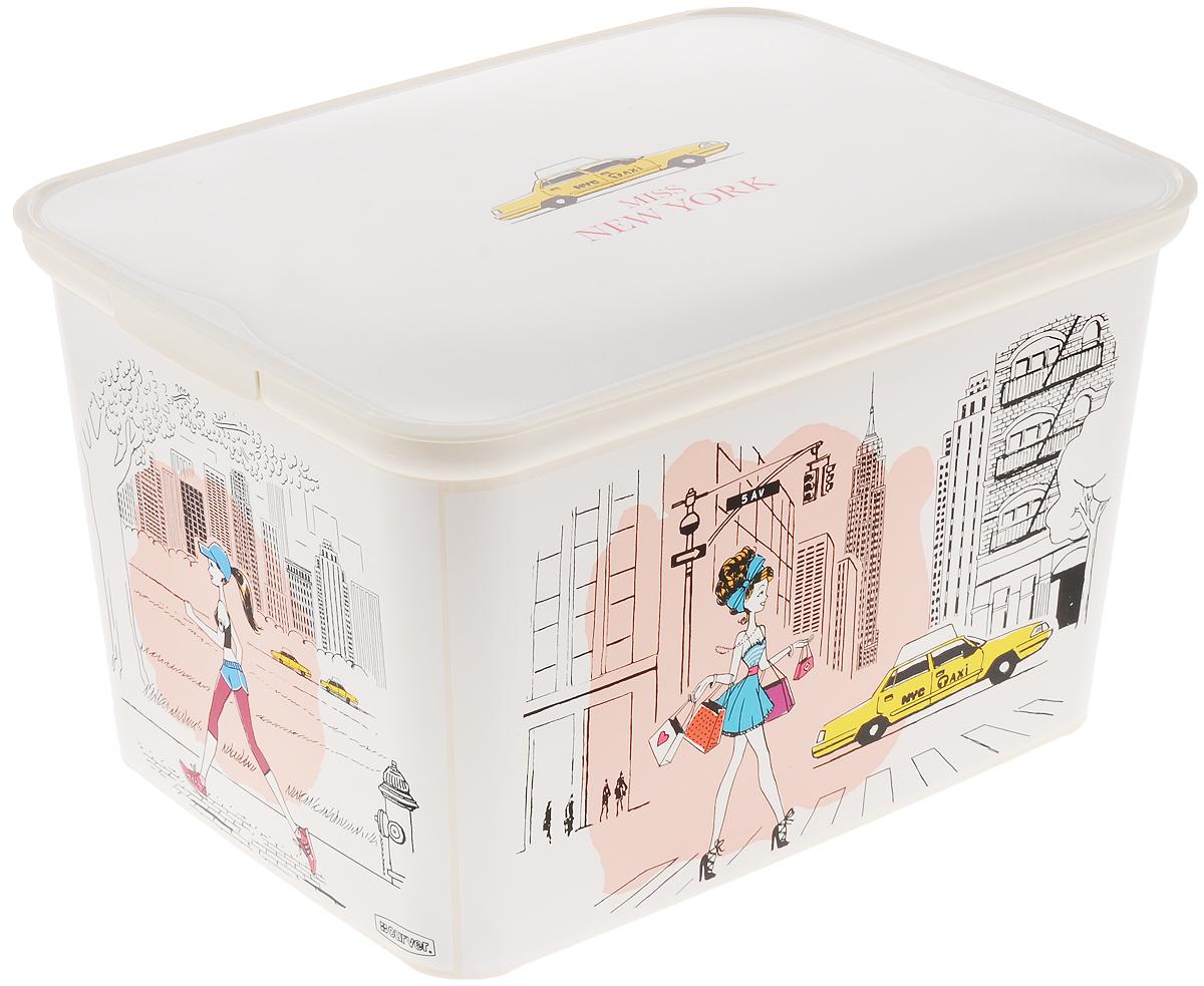 Коробка для хранения Curver Miss New York, 39 х 30 х 23 см1004900000360Коробка Curver Miss New York, выполненная из высококачественного пластика, предназначена для хранения различных вещей. Изделие украшено изображениями девушек в Нью Йорке. Коробка оснащена крышкой. В ней можно хранить канцелярские принадлежности, медикаменты и другие мелкие предметы. Декоративная коробка поможет хранить все в одном месте, а также защитить вещи от пыли, грязи и влаги.Размер изделия: 39 х 30 х 23 см.
