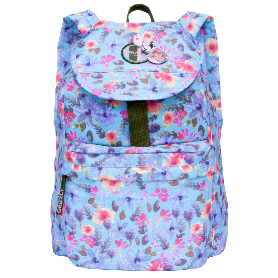 Рюкзак молодежный Grizzly, цвет: голубой. 18 л. RD-646-2/9 велопокрышка continental twister 1 9 supersonic 26x1 9 47 559 122260