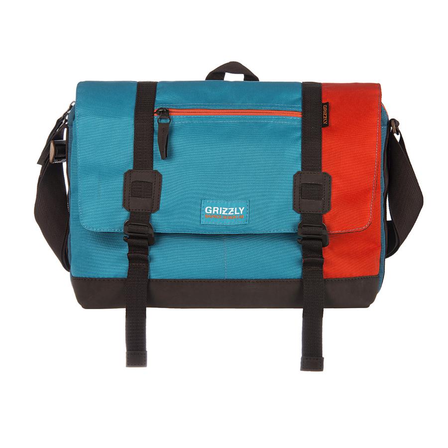 Сумка молодежная Grizzly, цвет: оранжевый, голубой, синий. 14 л. ММ-619-3/1SM939B-1122Молодежная сумка Grizzly изготовлена из высококачественного плотного текстиля. Дно уплотнено материалом из экокожи. Сумка имеет одно отделение, которое закрывается на клапан с застежками-крючками, регулируемыми по высоте, и застежку-молнию. Внутри сумки расположен карман для ноутбука или планшета, а также вшитый карман на застежке-молнии.Снаружи, с фронтальной стороны сумки есть один прорезной карман на застежке-молнии и два открытых кармашка. На клапане также располагается прорезной карман на застежке-молнии, и с тыльной стороны - боковой карман на застежке-молнии. Изделие оснащено дополнительной ручкой-петлей и регулируемым плечевым ремнем.Самовыражение - одна из базовых потребностей современного человека. Оригинальные, яркие, остромодные рюкзаки от Grizzly наилучшим образом подчеркнут вашу креативность, индивидуальность и неповторимый стиль!